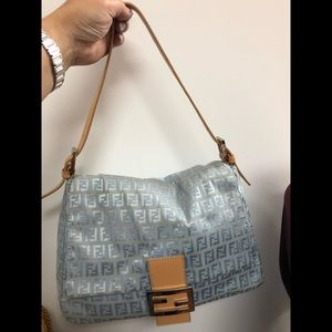 Fendi Baguette in Light Blue